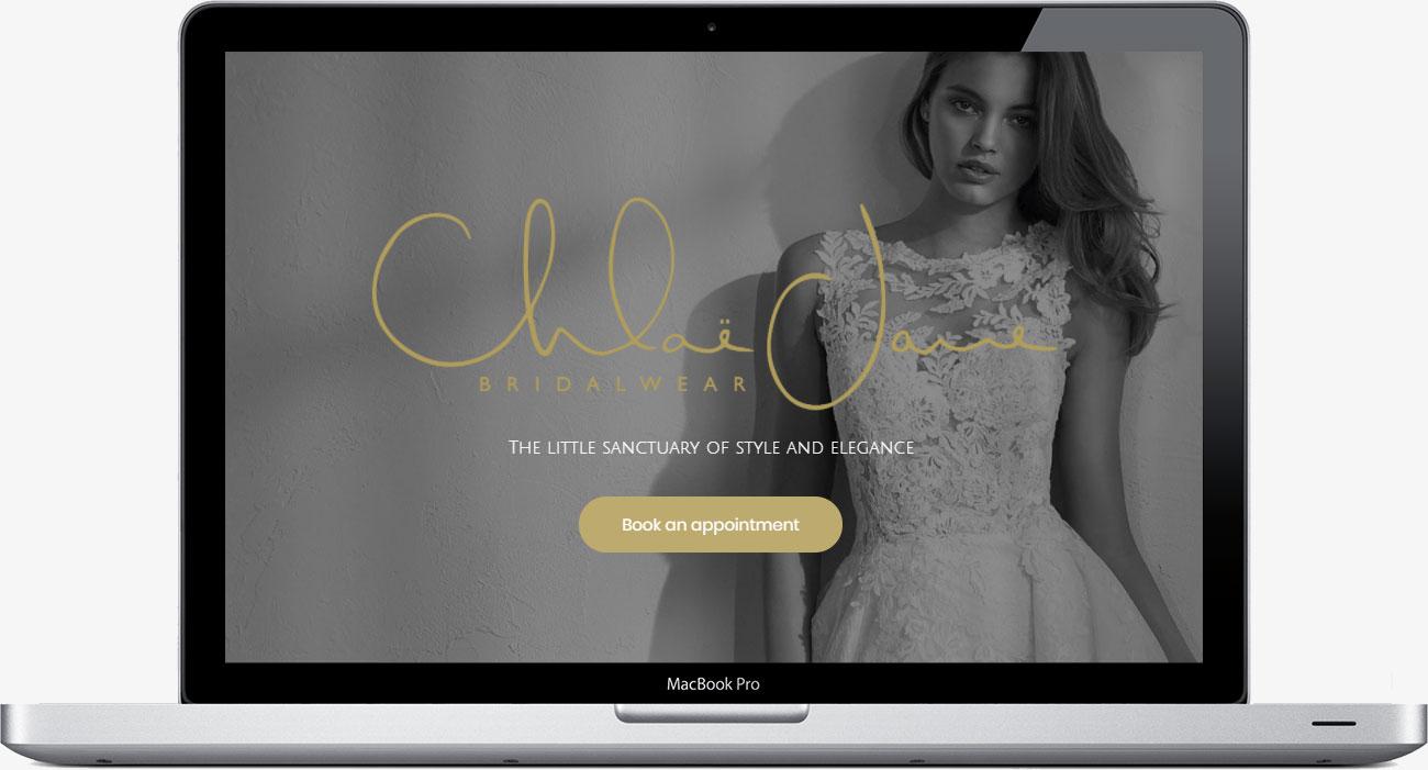 Chloe Jane bridalwear website