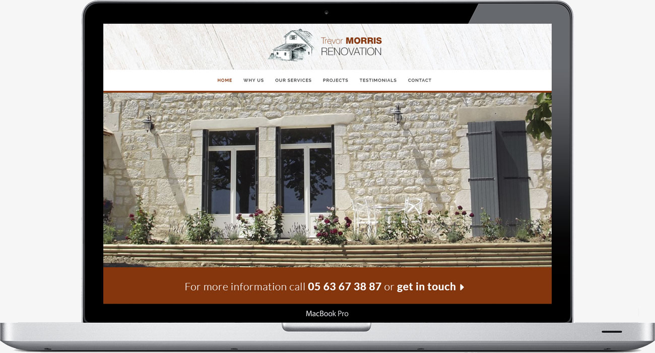 Trevor Morris Renovation in France